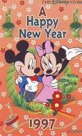 Télécarte Japon / 110-183846 - DISNEY STORE  MICKEY & MINNIE NEW YEAR 1997 (6339) Japan Phonecard Toupie Spintop Kre - Disney