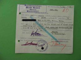 KZ Lager GROSS ROSSEN 1944 Genuine Document With Punishment. Judaica. #3 - Historische Documenten