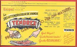 Buvard Années 50  TENDREX -  MARSEILLES SUPPLY Dépositaire à MARSEILLE   Dépot ROLAND SICARD  -imp PUBLIDEAL BORDEAUX - Food