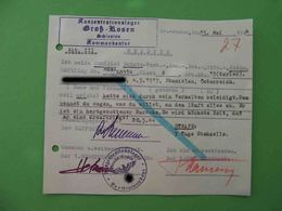 KZ Lager GROSS ROSSEN 1944 Genuine Document With Punishment. Judaica. #4 - Documents Historiques