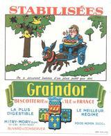 Buvard Années 50  GRAINDOR - BISCOTTERIE ILE DE FRANCE à MITRY-MORY - ON A SOUVENT BESOIN D'UN PLUS PETIT QUE SOI - Biscottes