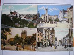 ALLEMAGNE - 9 CPA - 9 Belles Cartes Couleur - 3 Photos - Erfurt