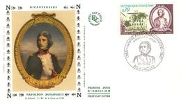 FDC Enveloppe 1er Jour Napoléon Bonaparte ( AJACCIO ) 1969 Timbre N°1610 - 1960-1969