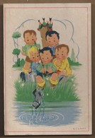 NL.- K.l.links Kaart. - Jongens Aan Het Vissen. Halen Een Schoen Op. 1946. - Taferelen En Landschappen