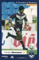 Cpm  Girondins De B.  Vikash Dhorasoo  ( Dédicace ) - Football
