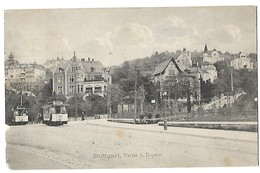 ALLEMAGNE STUTTGART PARTIE B. BOSPER 1912 CPA 2 SCANS - Stuttgart