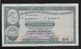 Hong Kong - 10 Dollars - Pick N°182i - TB - Hong Kong