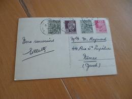 Sur CPA Algérie Sidi Bel Abbès Affranchissent Mixte 4 TP Multi Couleurs - Algérie (1924-1962)