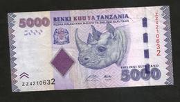 TANZANIA - 5000 SHILINGI - Tanzania