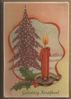NL.- Gelukkig Kerstfeest. Kaars. 1943? - Speelgoed & Spelen