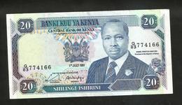KENYA - CENTRAL BANK Of KENYA - 20 SHILLINGS (1991) - D. TOROITICH ARAP MOI - Kenia