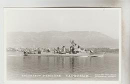 """CPSM TRANSPORT BATEAU DE GUERRE FRANCAIS - Escorteur D'escadre """"VAUQUELIN"""" - Warships"""
