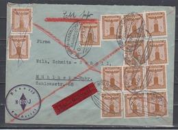 Dt.Reich Vordruckbrief HJ Bann 259 Emschertal Mit 14x D 145 Als Eilbrief BP-o Köln-Hannover 1938 Nach Mühlheim-Ruhr - Deutschland
