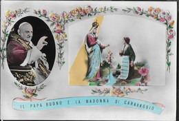 IL PAPA BUONO E LA MADONNA DI CARAVAGGIO - VIAGGIATA DA CARAVAGGIO 1968 - Papes
