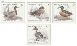 D- [152906] **/Mnh-[2332/35] Belgique 1989, Nature, Animaux, Oiseaux, Canards, SC, SNC - Canards