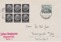 ALLEMAGNE  1937 LETTRE DE CAINSDORF - Deutschland