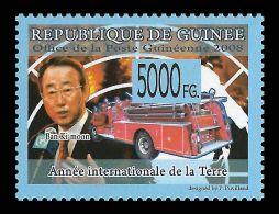 Guinee Ban Ki Moon Korea Fire Brigade Transport 1v Stamp Michel:5895 - Non Classificati