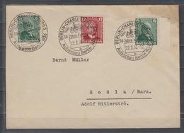 Dt.Reich SSt Berlin-Charlottenburg/50 Jahre Automobil/22.2.36/Autoschau Berlin Auf Fernbrief  Mit 2x 604,605 - Deutschland