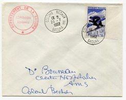RC 9013 FRANCE ALGERIE 1962 SURCHARGE EA SKI A CHAMONIX SUR LETTRE DE COLOMB-BECHAR  TB - Algérie (1924-1962)