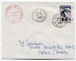 RC 9014 FRANCE ALGERIE 1962 SURCHARGE EA SKI A CHAMONIX SUR LETTRE DE COLOMB-BECHAR  TB - Algérie (1924-1962)
