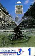 Carte De Stationnement Paris Carte 1 : La Fontaine Edmond Rostand - Other Collections