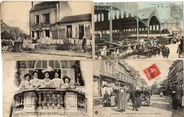 LOT DE 4 CARTES POSTALES ANCIENNES FRANCAISES ANIMEES, TOUTES SCANEES - Cartes Postales