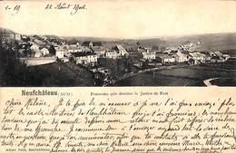 Neufchâteau (Sud) - Panorama Pris Derrière La Justice De Paix (1902) - Neufchâteau