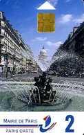 Carte De Stationnement Paris Carte 2 : La Fontaine Edmond Rostand - Other Collections