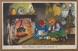 NL.- Klein Duimpje Luistert Het Gesprek Af. Openhaard. 1945. - Stripverhalen