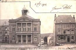 Neufchâteau - L'Hôtel De Ville Et La Grand PLace (+café Lange, 1902) - Neufchâteau