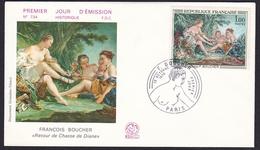 FRANCE 1979 FDC Premier Jour - Boucher - Le Retour De Chasse De Diane - Lettre - 1970-1979