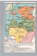 Map Landkarte Lettland, Estland Litauen Ca 1915  OLD POSTCARD 2 Scans - Lettonie