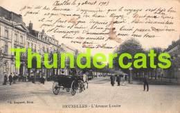 CPA BRUXELLES L'AVENUE LOUISE TRAM ATTELAGE - Avenues, Boulevards