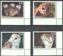 Tonga Niuafo'ou 2012 Yvertn° PA LP 1-4 *** MNH Cote 140 Euro Faune Oiseaux Vogels Birds - Tonga (1970-...)