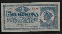 Hongrie - 1 Korona - 1920 - Pick N°57 - TB - Hongrie