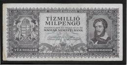 Hongrie - 10 Millions De Pengo - 1946 - Pick N°129 - TTB - Hungary