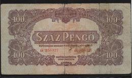 Hongrie - 100 Pengo - 1944 - Pick N°M8 - TB - Hongrie