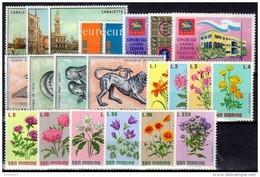 SAN MARINO - 1971 - Annata Completa - 22 Valori - Year Complete ** MNH/VF - Saint-Marin
