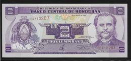 Honduras - 2 Lampiras - Pick N°72c - NEUF - Honduras