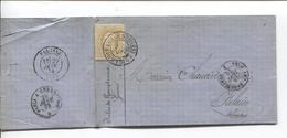 TP 32 S/LAC C.Gand (Faubourg De Bruges) 26/1/76 Ambt Belg Par Erquelinnes V.Falaise C.d'arrivée Ambt  Paris à Cherbourg - 1869-1883 Léopold II