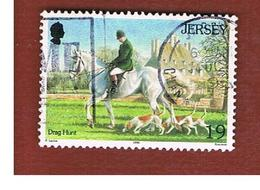 JERSEY  - SG 758  -   1996 HORSES -   USED - Jersey