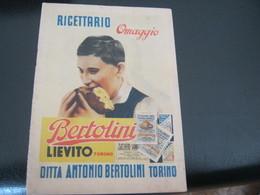 LIBRETTO LIEVITO BERTOLINI 1938 - Etiquettes