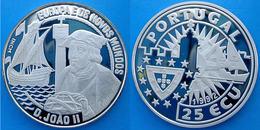 PORTUGAL 25 E 1992 ARGENTO PROOF SILVER D.JOAO II SCOPERTA DEL NUOVO MONDO EUROPA PESO 28g TITOLO 0,925 CONSERVAZIONE FO - Portogallo