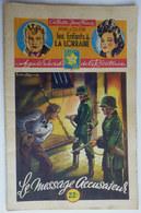 Roman LES ENFANTS DE LA LORRAINE N°19 LE MESSAGE ACCUSATEUR H D'ALZON BRANTONNE  1947 Collection Jeune France - Aventure