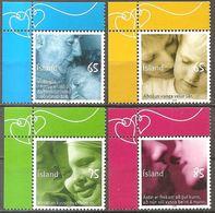 Island Iceland Islande 2008 Greeting Stamps Poet Kissings Grußmarken Michel No. 1187-90 Mint Postfrisch Neuf MNH ** - Nuovi