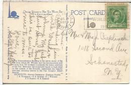 ESTADOS UNIDOS USA 1940 MAT WORLD'S FAIR FERIA MUNDIAL - Exposiciónes Universales
