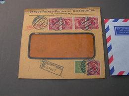 Polen Bankbrief Aus Cestochova 1930 - Briefe U. Dokumente