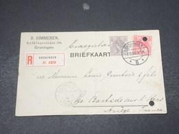 PAYS BAS - Carte Commerciale En Recommandé De Groningen Pour La France En 1908 - L 18133 - Periode 1891-1948 (Wilhelmina)