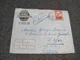 PORTUGAL SAO TOMÉ CIRCULATED COVER S. TOMÉ C CANCEL TO LISBOA - DIJON 1951 - St. Thomas & Prince