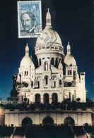 D34281 CARTE MAXIMUM CARD 1962 FRANCE - BASILICA LA SACRÉ COEUR CP ORIGINAL - Eglises Et Cathédrales